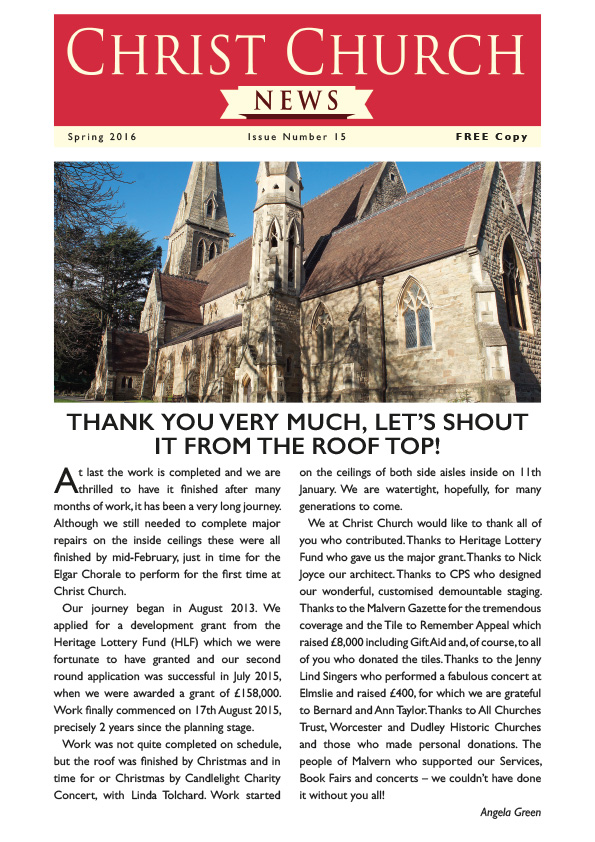 Christchurch Malvern Newsletter issue 15