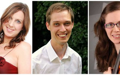 Saturday 7 May, 7.30pm – Shulah Oliver, Rebecca Rose and Tim Sidford unite for an evening of Piano Trio music