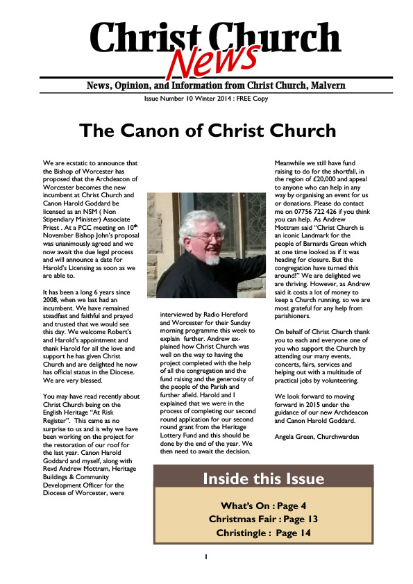 Christ Church Magazine Issue 10