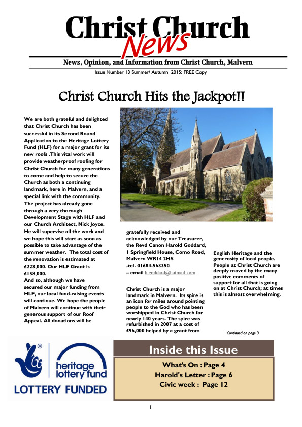 Christ Church Magazine Issue 13