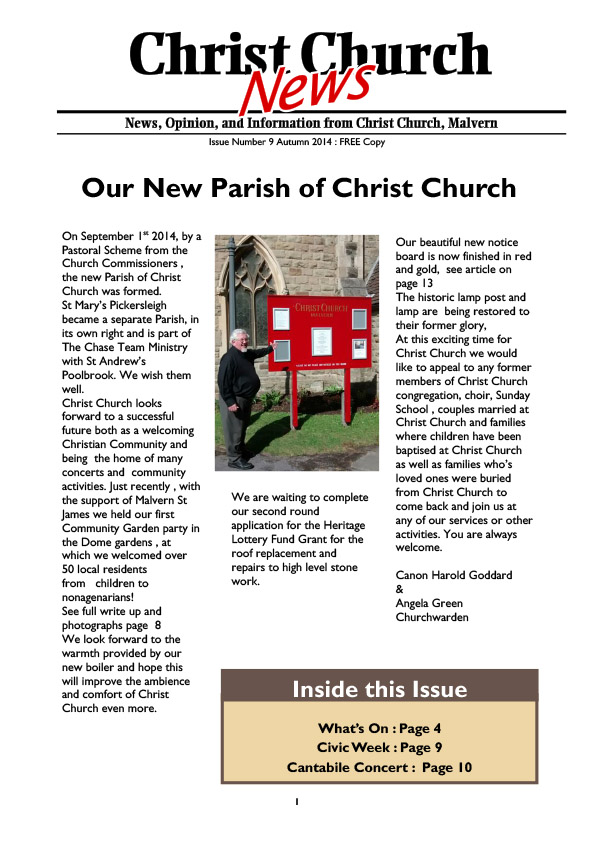 Christ Church Magazine Issue 9