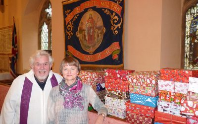 Christmas presents all wrapped up at Christ Church
