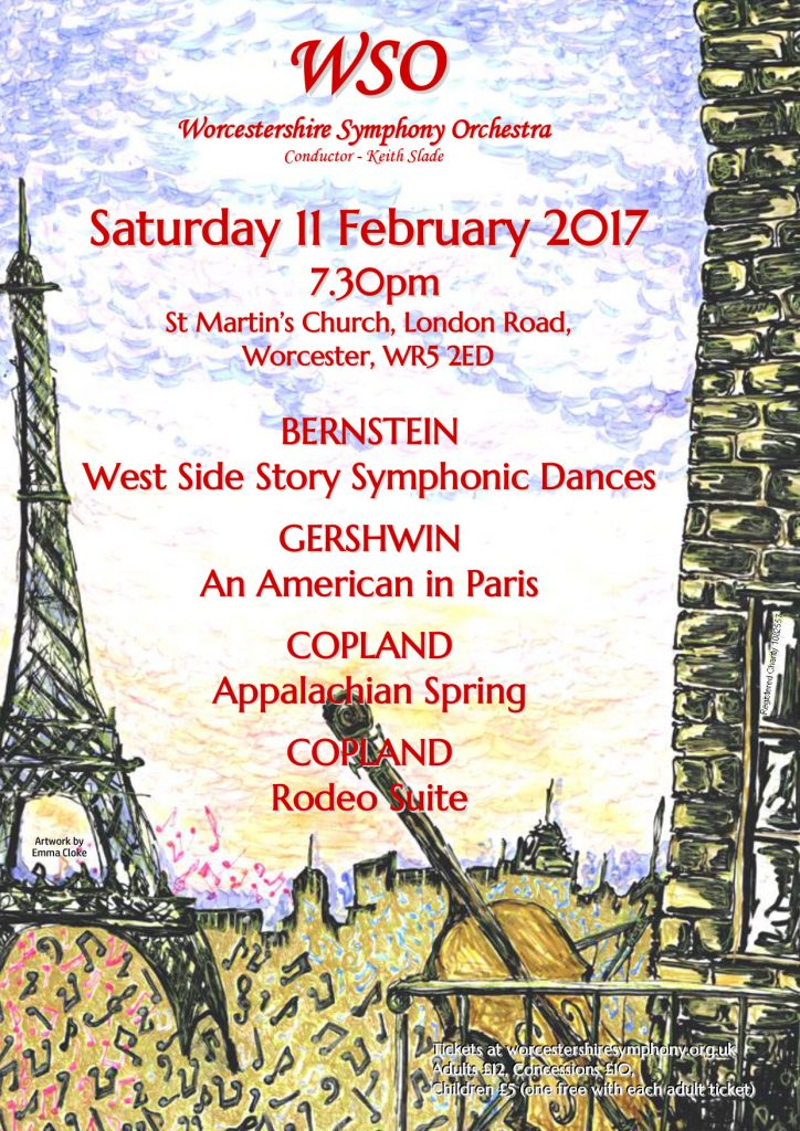 Worcestershire Symphony Orchestra Saturday 11th February St Martins Church Worcester