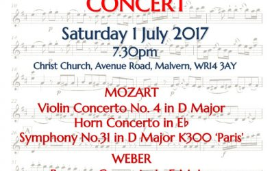 WSO Worcestershire Symphony Orchestra Summer Chamber Concert Saturday 1 July