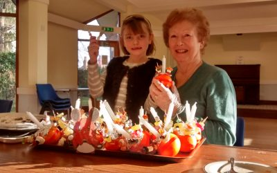 Christingle Making At Christ Church Hall Coffee Shop On Friday 15th December