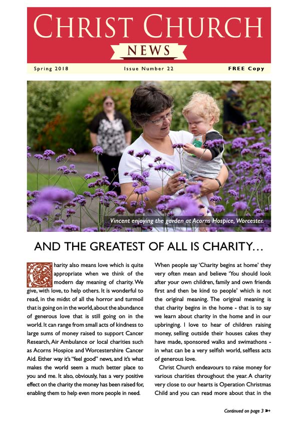 Christ Church Magazine Issue 22 - Acorns apeal