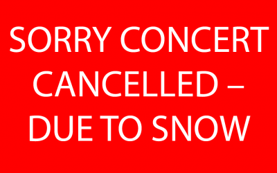 SORRY CONCERT CANCELLED – Musicians unable to reach Christ Church Malvern due to snow. Sunday 18th March 2018