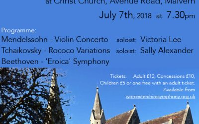 WSO Summer Chamber Concert Saturday 7th July Christ Church Malvern