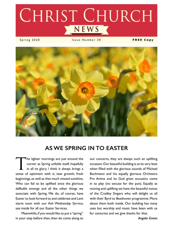 Christ Church Magazine Spring 2020